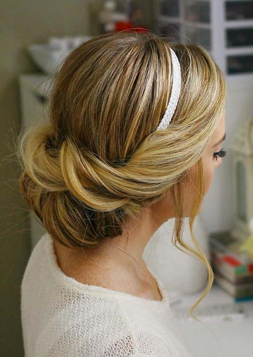 100 Trendy Long Hairstyles for Women: Wrapped Headband