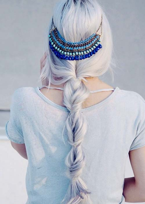 100 Trendy Long Hairstyles for Women: Sectioned Boho Braid