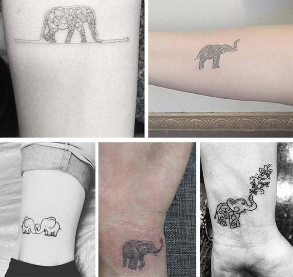 20 Intricate Small Elephant Tattoos Ideas And Designs