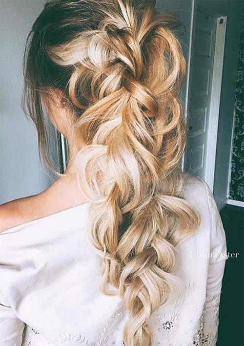 100 Ridiculously Awesome Braided Hairstyles: Braided Ponytail