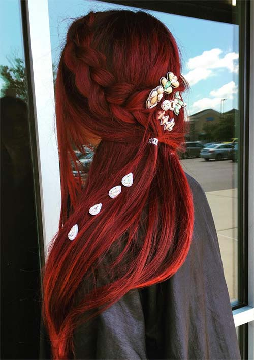 100 Ridiculously Awesome Braided Hairstyles: Red Mermaid Braids