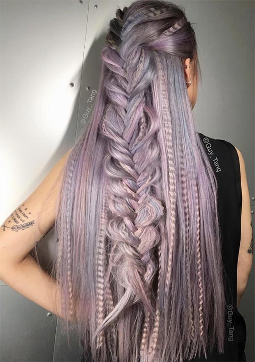 100 Ridiculously Awesome Braided Hairstyles: Braided Crimped Hair