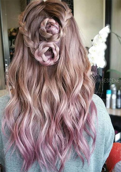 100 Ridiculously Awesome Braided Hairstyles: Braided Roses