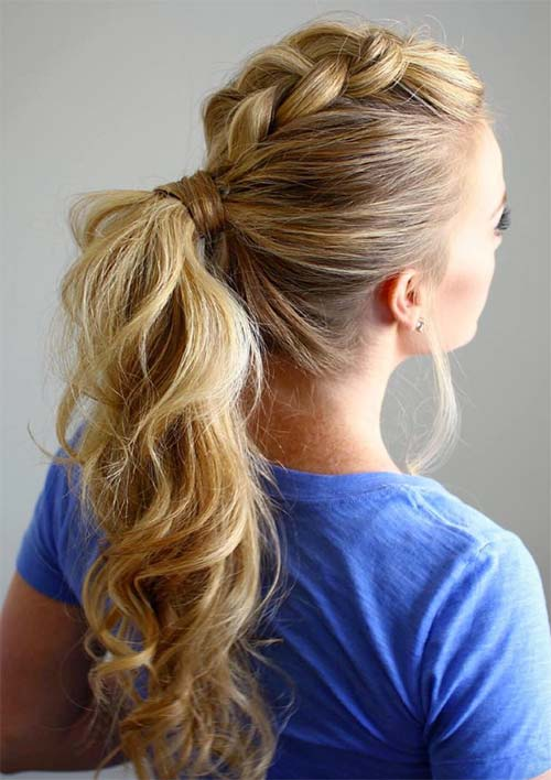 100 Ridiculously Awesome Braided Hairstyles: Dutch Braided Mohawk Ponytail