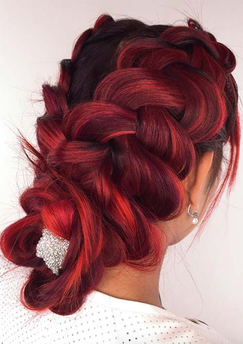 100 Ridiculously Awesome Braided Hairstyles: Pulled-Out Dutch Braids