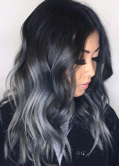 Dark Hair Colors: Deep Grey Hair Colors
