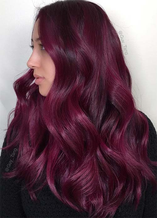 100 Dark Hair Colors Black Brown Red Dark Blonde Shades  Fashionisers