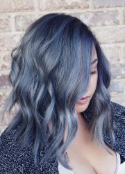 magically blue denim hair colors