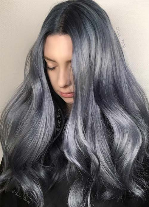 Blue Denim Hair Colors: Stonewashed Jean Magic