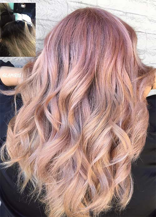Rose Gold Hair Color Ideas