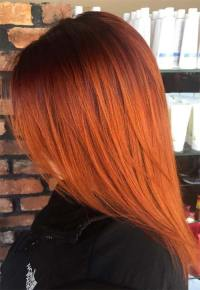 Photos Of Copper Colored Hair | copper highlights dark ...