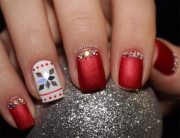 sparkling holiday nail art design
