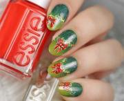 sparkling holiday nail art design