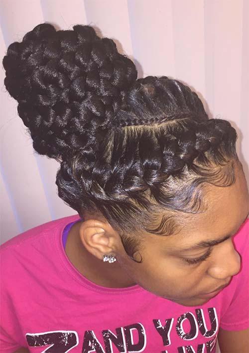 under braid hairstyles