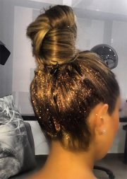 gorgeous glitter hairstyles