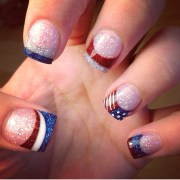 4th of july nail design independence