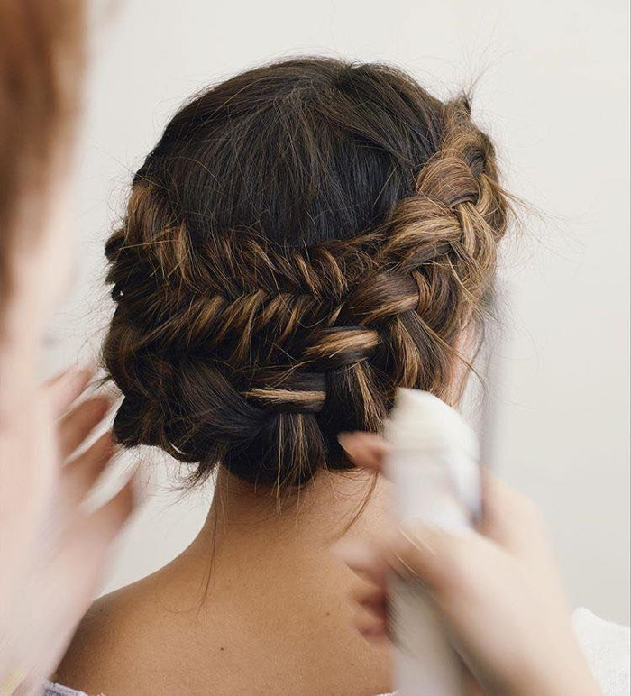 Prettiest Hairstyle Ideas for Fall braid updo