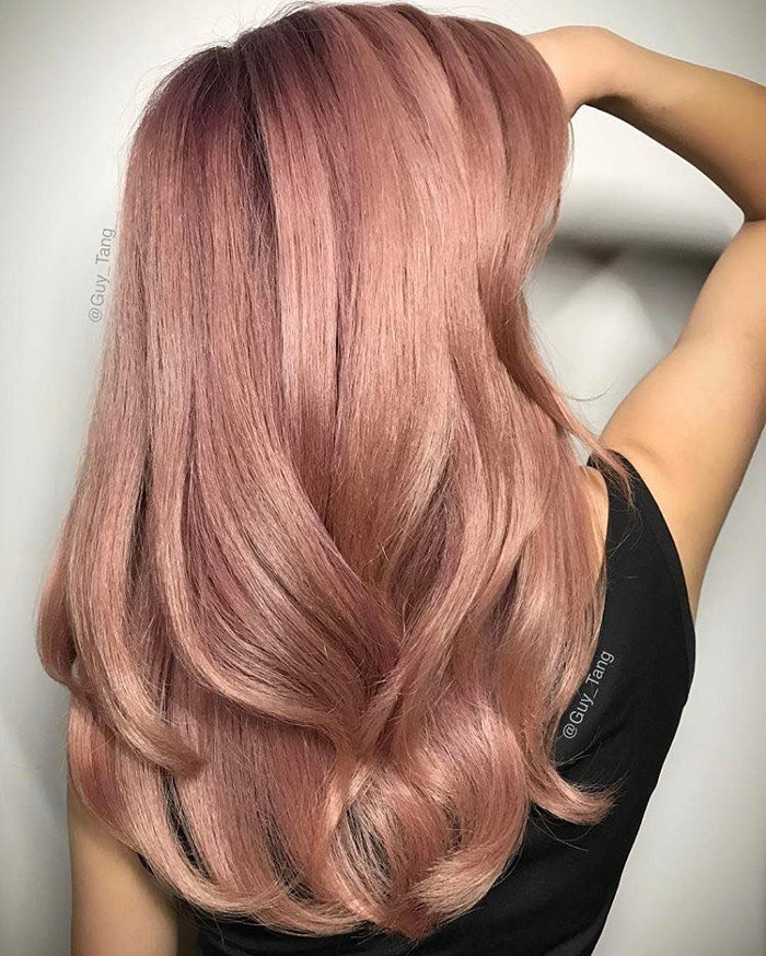 Pretty Pastel Hair Colors to Dye For dusty pink hair
