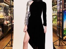Monse Pre Fall 2018 Collection black dress with sequined sleeve