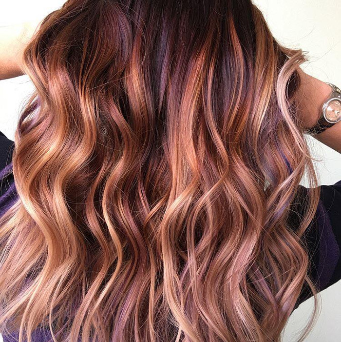 Fruit Juice is The Hottest Spring Hair Color Trend peach hair color with highlights