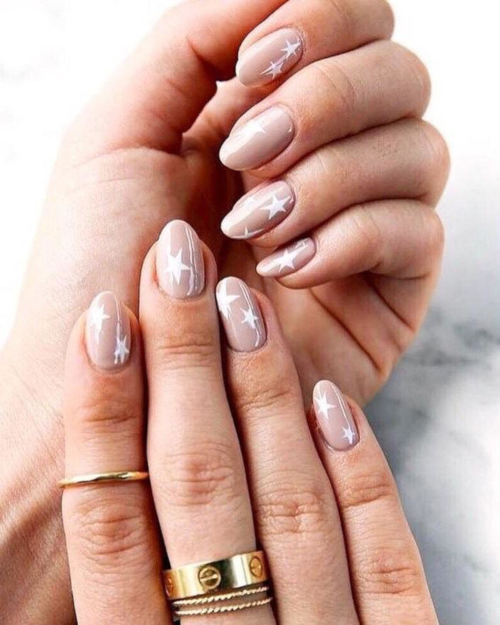 Neutral Nail Ideas That Go With Everything nude star nails