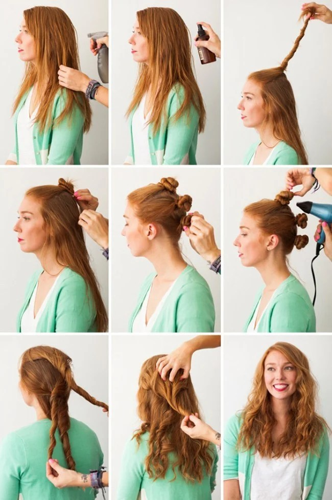 Waves bun in 10 steps
