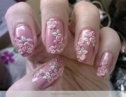 7 flower nail art design