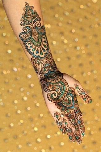 Coloured Mehendi Design