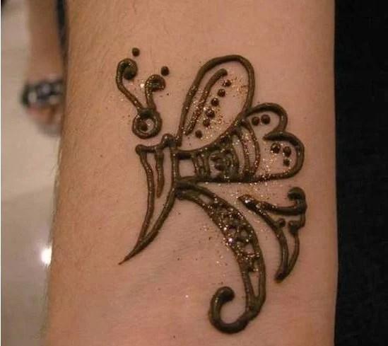 Simple Mehndi Tattoos Boy
