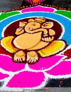 Fashionlady also latest ganesh rangoli designs ideas and pictures for rh