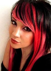 red and black hairstyles