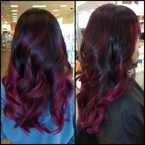 Trend Alert Black And Purple Hair! Would You Dare?