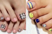easy toe nail design