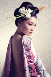 japanese top knot with chopstick