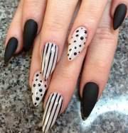 trendy stiletto nail design