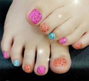 easy toe nail design