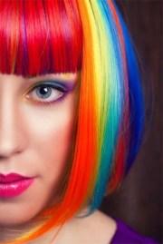 rainbow hair fashion trend