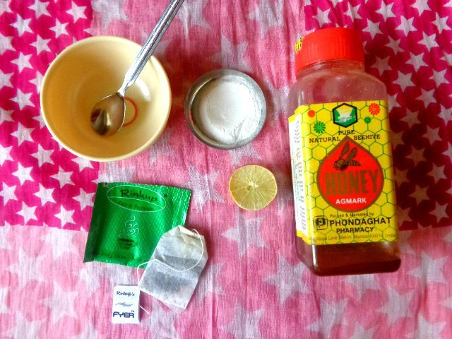Green tea and rice floor mask
