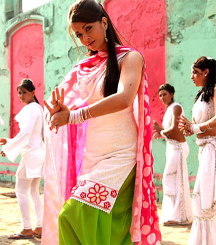 Patiala Salwar costume for Holi