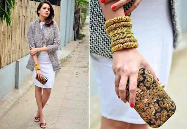 Bangles And Monochromatic Outfits