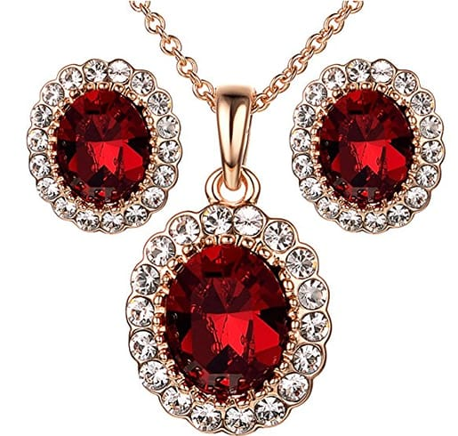 Kate Middleton Jewelry Set Cubic Zirconia Necklace And Earrings