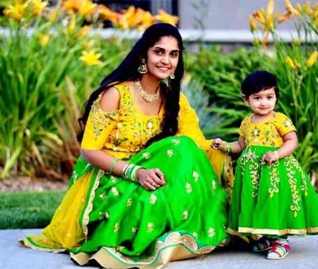 Indian Mother Daughter Cute Outfits