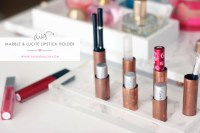 A Chic & Functional DIY Lipstick Holder