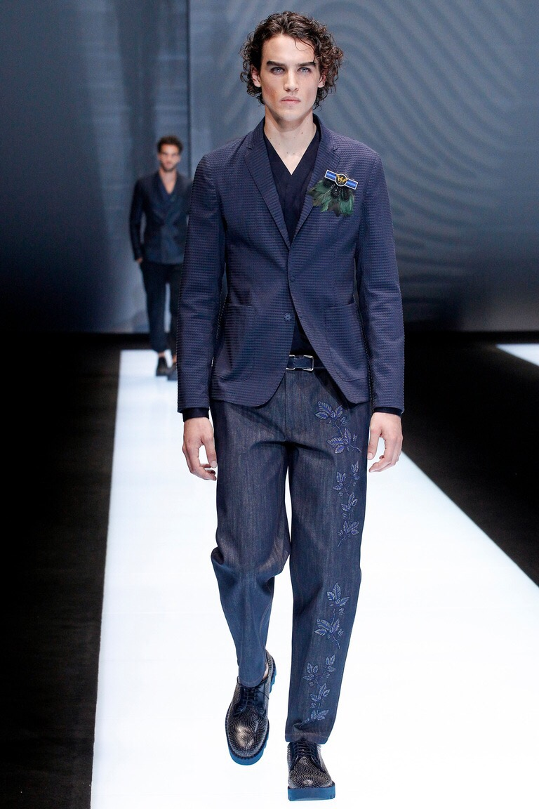 a66d2f8c81f1 The denim jeans and blazer look is now a stable in all mens wardrobe so why  not add a little something else into the mix. It s not the first collection  to ...