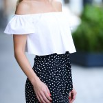 Polka Dots & Off The Shoulder Top