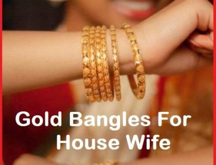 Gold Bangles For House Wife