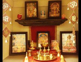 घर में मंदिर का स्थान नियत करने के लिए वास्तु के नियम