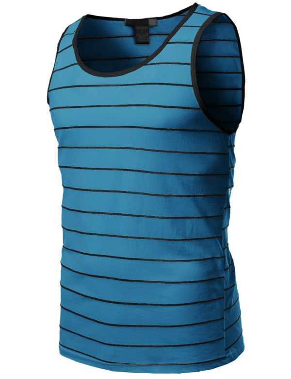 Striped Tank Top Shirts for Men