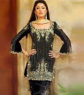 Beauty Black Grilz Dres new pakistani embroidery dresses designs for women New Pakistani Embroidery Dresses Designs For Women 942
