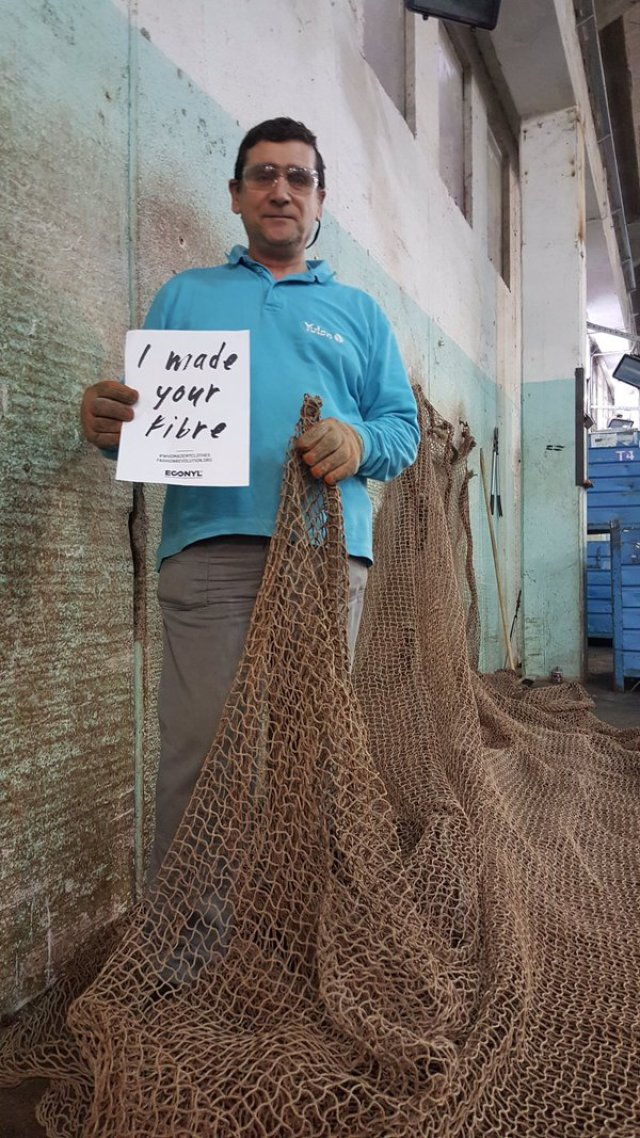 Paolo here in the #ECONYL plant? He prepares nets for regeneration